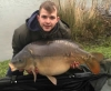 Big mirror carp caught at Bury Hill Fisheries, Surrey